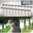 Set de 20 bornes lampes solaires inox à Led blanche