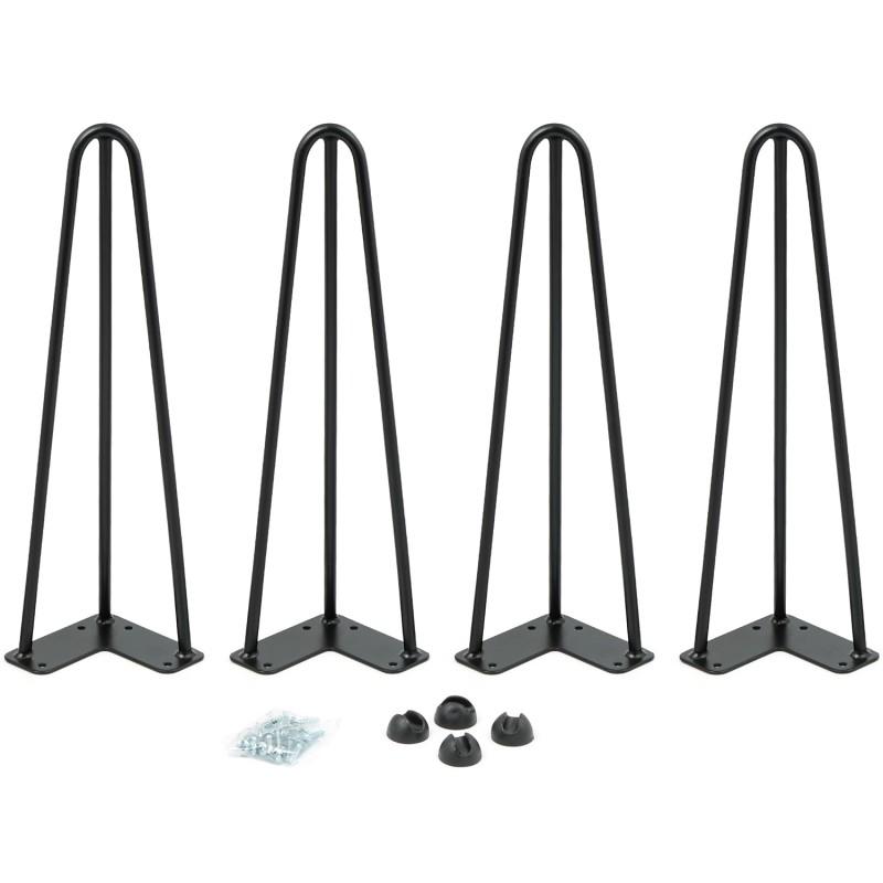 Détails sur Lot de 4 pieds épingle 40.5 cm pour table design industriel