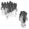 Chapiteau pliable rayé gris blanc 3x3 M + 3 murs tente de réception