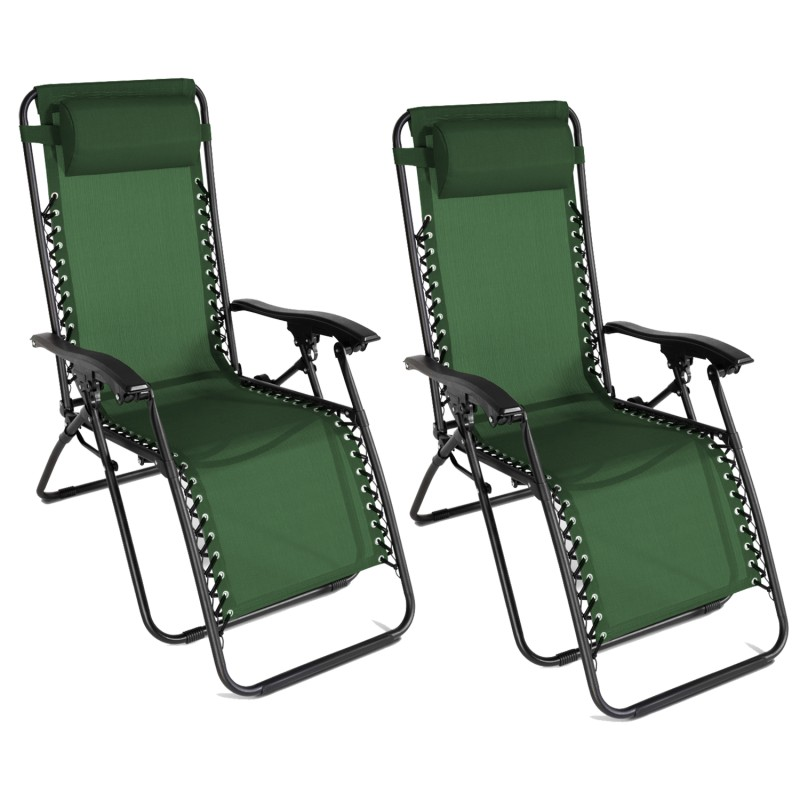 fauteuil relax de jardin vert x2. Black Bedroom Furniture Sets. Home Design Ideas