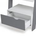 Étagère échelle scandinave bois blanc et gris