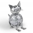 Chat en métal éclairage extérieur à LED solaire