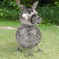 Cochon en métal éclairage extérieur à LED solaire