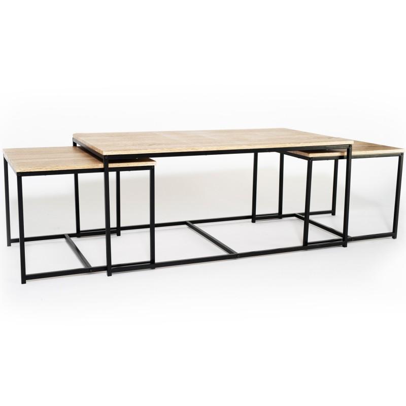 De 113 Cm 3 Design Tables Basses Industriel Gigognes Lot Detroit n0NwP8yvmO
