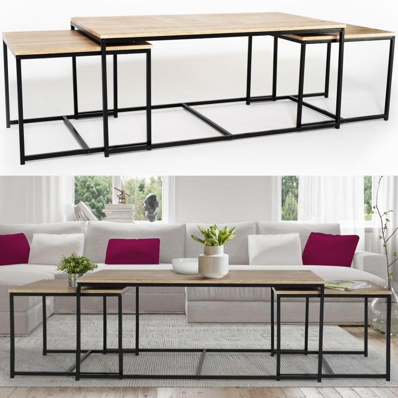 113 Tables Basses Lot Gigognes Detroit Industriel De 3 Design Cm tsoQdCBhrx