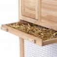 Poulailler 1 étage clapier à lapin en bois