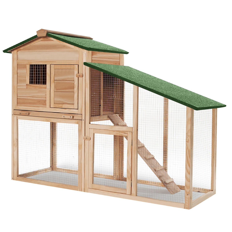 poulailler en bois pas cher avec clapier id market. Black Bedroom Furniture Sets. Home Design Ideas