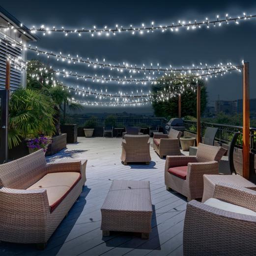 lot de 3 guirlandes 50 LED solaires blanches décoratives