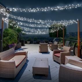 Guirlande solaire 400 led blanches décorative