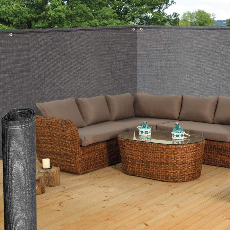 brise vue renforc gris 1m x 10m occultant 220g m id market. Black Bedroom Furniture Sets. Home Design Ideas