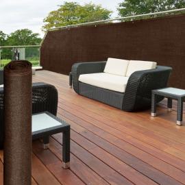 Brise vue renforcé 1.8 x 10 m marron 220 gr/m² luxe pro