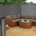Brise vue renforcé 2 x 10 m gris 220 gr/m² luxe pro