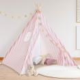 Tipi d'indien rayé rose tente de jeux pour enfant