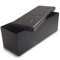 Banc coffre rangement pliable noir GM 100x38x38 cm