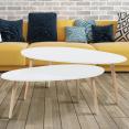 Set x2 tables basses gigognes design scandinave blanc