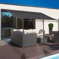 Auvent pergola adossé pour terrasse GM 3 x 4 m avec toile grise