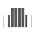 Kit de départ panneau occultant en bois composite gris 90x188 CM