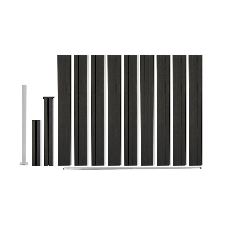 Kit de départ panneau occultant NOA en bois composite gris H.188 x L.188 CM