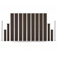 Kit de départ panneau occultant en bois composite taupe 188x188 CM