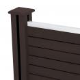 Kit d'extension panneau occultant en bois composite taupe 180x188 CM