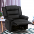 Fauteuil relaxation inclinable noir