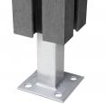 Kit d'extension panneau occultant en bois composite gris 90x180 CM