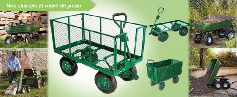 Chariots et roues de jardin