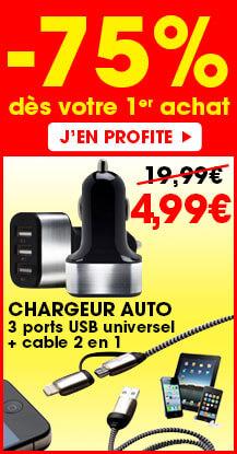Offre exceptionnel 9,99€ au lieu de 29,99€ pour toute commande