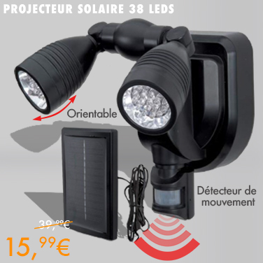 projecteur double 38 led